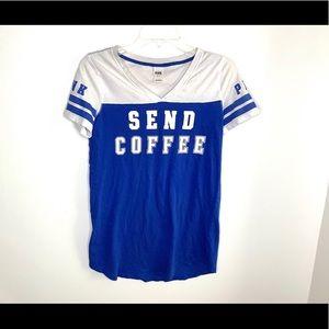 """< VS Pink """"Send Coffee"""" Tee >"""